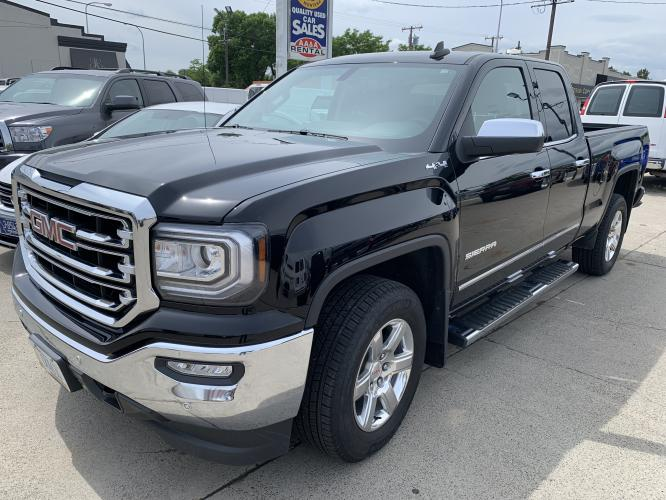 2017 Black GMC Sierra Double Cab SLT (1GTV2NEC1HZ) with an 5.3 V8 engine, Automatic transmission, located at 3200 1st Avenue North, Billings, MT, 59101, (406) 245-9055, 45.779270, -108.510742 - Photo #6