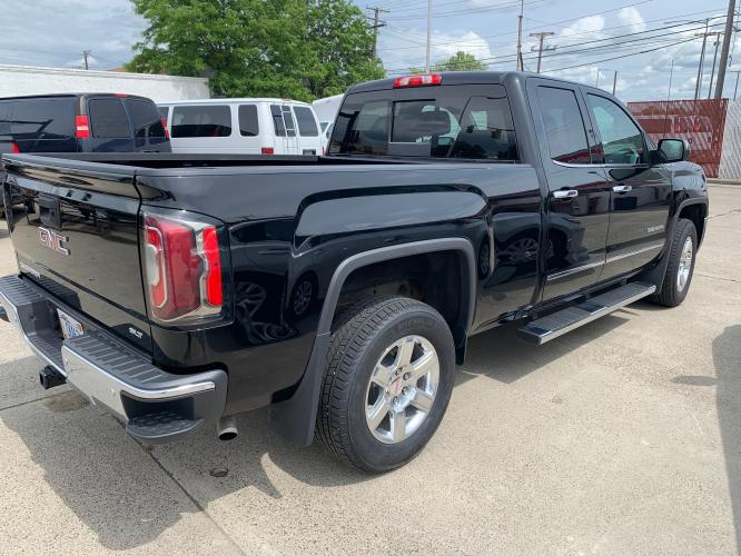 2017 Black GMC Sierra Double Cab SLT (1GTV2NEC1HZ) with an 5.3 V8 engine, Automatic transmission, located at 3200 1st Avenue North, Billings, MT, 59101, (406) 245-9055, 45.779270, -108.510742 - Photo #2