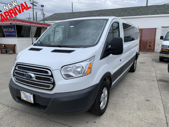 2018 White /Gray Ford Transit 350 Wagon Low Roof XLT 60/40 Pass. 148-in. WB (1FBZX2ZM4JK) with an 3.7L V6 DOHC 24V engine, 6A transmission, located at 3200 1st Avenue North, Billings, MT, 59101, (406) 245-9055, 45.779270, -108.510742 - Photo #0