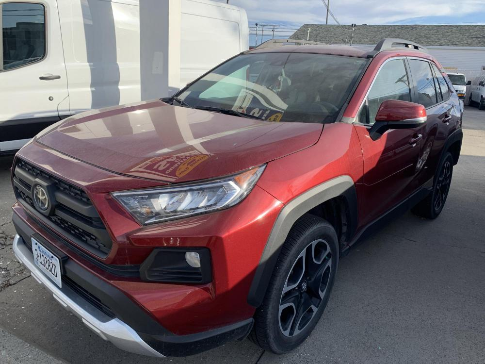 2019 Metallic Red /Buckskin Tu-Tone Leather Toyota RAV4 Adventure AWD (2T3J1RFVXKC) with an 2.5L L4 DOHC 16V engine, 8A transmission, located at 3200 1st Avenue North, Billings, MT, 59101, (406) 245-9055, 45.779270, -108.510742 - Photo #0
