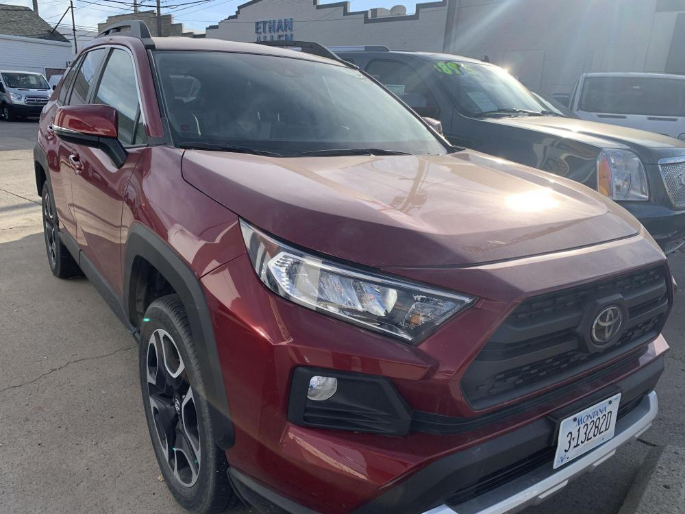 2019 Metallic Red /Buckskin Tu-Tone Leather Toyota RAV4 Adventure AWD (2T3J1RFVXKC) with an 2.5L L4 DOHC 16V engine, 8A transmission, located at 3200 1st Avenue North, Billings, MT, 59101, (406) 245-9055, 45.779270, -108.510742 - Photo #2