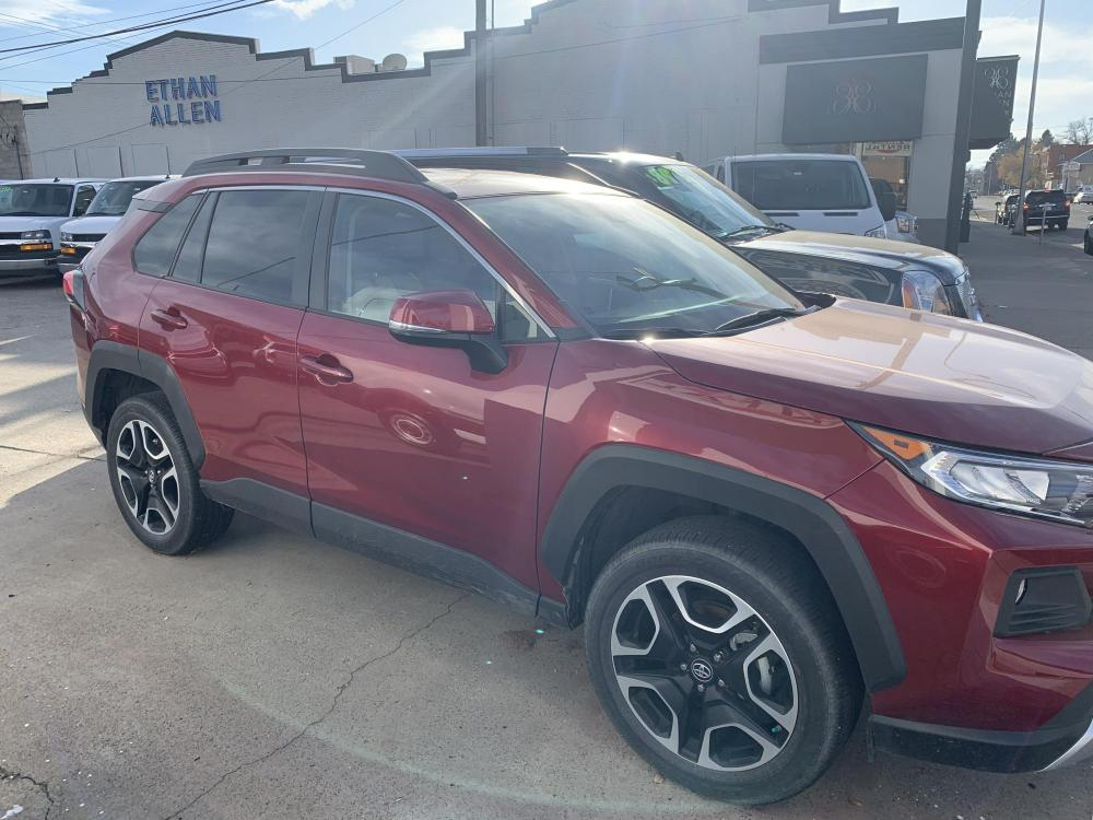 2019 Metallic Red /Buckskin Tu-Tone Leather Toyota RAV4 Adventure AWD (2T3J1RFVXKC) with an 2.5L L4 DOHC 16V engine, 8A transmission, located at 3200 1st Avenue North, Billings, MT, 59101, (406) 245-9055, 45.779270, -108.510742 - Photo #3