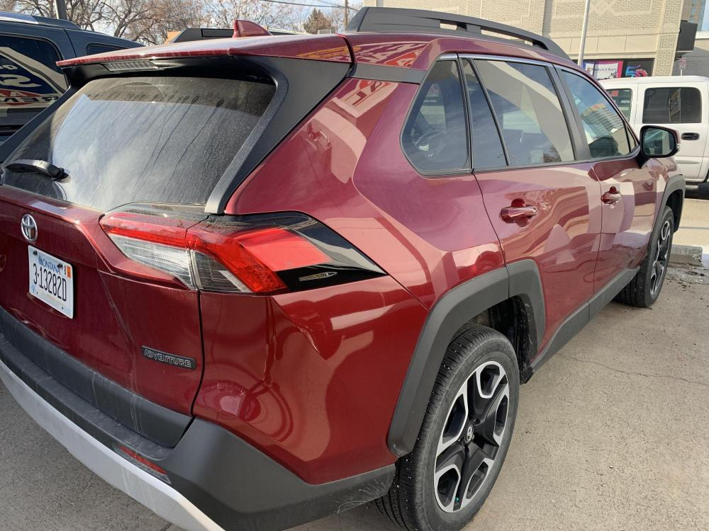 2019 Metallic Red /Buckskin Tu-Tone Leather Toyota RAV4 Adventure AWD (2T3J1RFVXKC) with an 2.5L L4 DOHC 16V engine, 8A transmission, located at 3200 1st Avenue North, Billings, MT, 59101, (406) 245-9055, 45.779270, -108.510742 - Photo #4