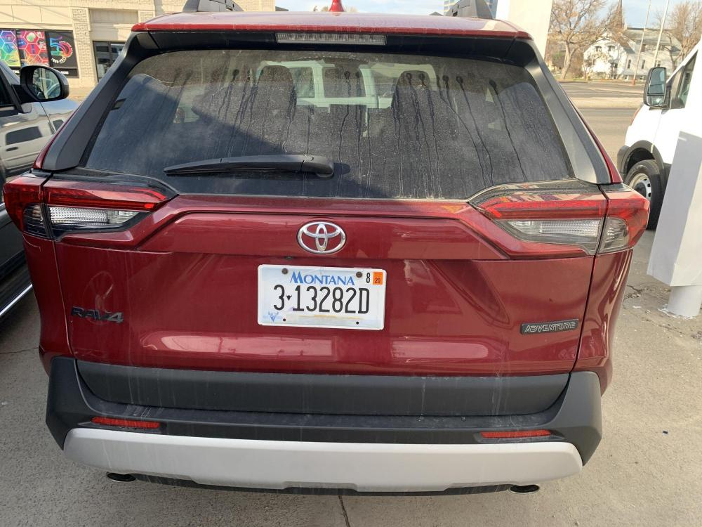 2019 Metallic Red /Buckskin Tu-Tone Leather Toyota RAV4 Adventure AWD (2T3J1RFVXKC) with an 2.5L L4 DOHC 16V engine, 8A transmission, located at 3200 1st Avenue North, Billings, MT, 59101, (406) 245-9055, 45.779270, -108.510742 - Photo #5