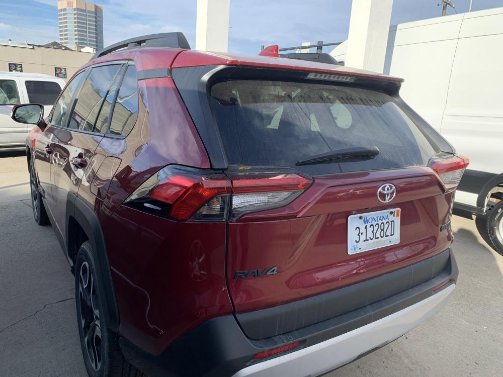 2019 Metallic Red /Buckskin Tu-Tone Leather Toyota RAV4 Adventure AWD (2T3J1RFVXKC) with an 2.5L L4 DOHC 16V engine, 8A transmission, located at 3200 1st Avenue North, Billings, MT, 59101, (406) 245-9055, 45.779270, -108.510742 - Photo #6