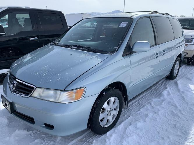2004 /Gray Honda Odyssey EX w/ DVD (5FNRL18854B) with an 3.5L V6 SOHC 24V engine, 5-Speed Automatic Overdrive transmission, located at 3200 1st Avenue North, Billings, MT, 59101, (406) 245-9055, 45.779270, -108.510742 - Photo #0
